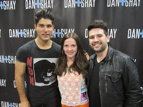 Photo: Kylee and Dan + Shay at Hunter Hayes We're not Invisible Concert on May 1st, 2014.