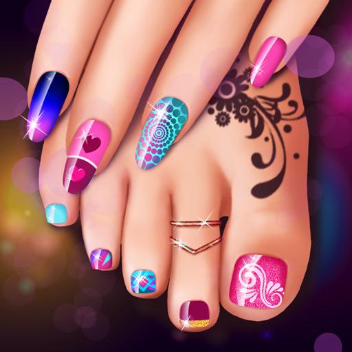 Juegos de manicura y pedicura: Diseños de uñas