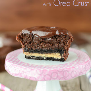 Mini Chocolate Mud Pies with Oreo Crust
