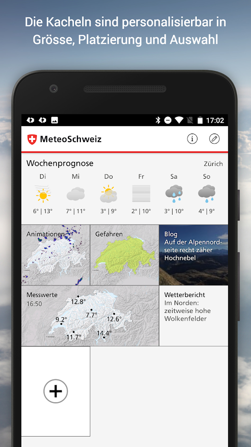 MeteoSwiss – Screenshot