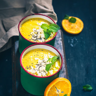 Cold Mango Cantaloup Orange Soup