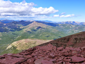 Photo: Looking toward the Rocky Mountain (Augusta area) from Red Mountain