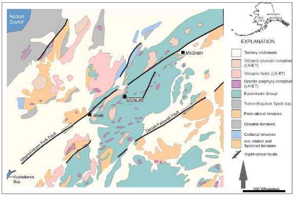 Regional Geology of Central Kuskokwim Area