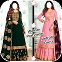 Women Partywear Sharara Dress Suits icon