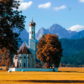 Church in Bavaria by Pravine Chester - City,  Street & Park  Vistas ( building, church, vista, places, architecture, city )