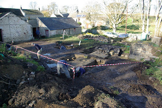 Photo: Excavations are revealing buttresses of Grange building.