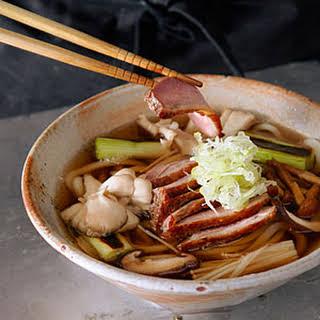 Roast Duck and Mushroom Udon (Kamo Kinoko Udon).