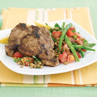 Chermoula Lamb with Bean Salad