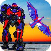 Futuristic Police Robot: Flying Eagle 3D Simulator