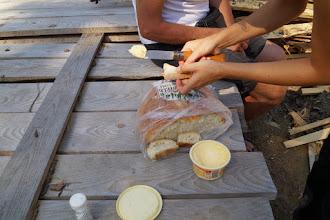 Photo: chlebek prawie prosto z pieca wchodzil najlepiej tylko z masełkiem  :)