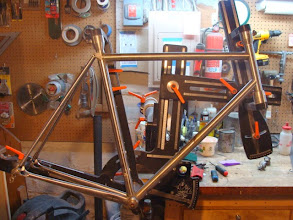 Photo: All the tubes are mitered and dry fit.  Just need to prep the lugs and do the final grinding on the ends of the seat stays.