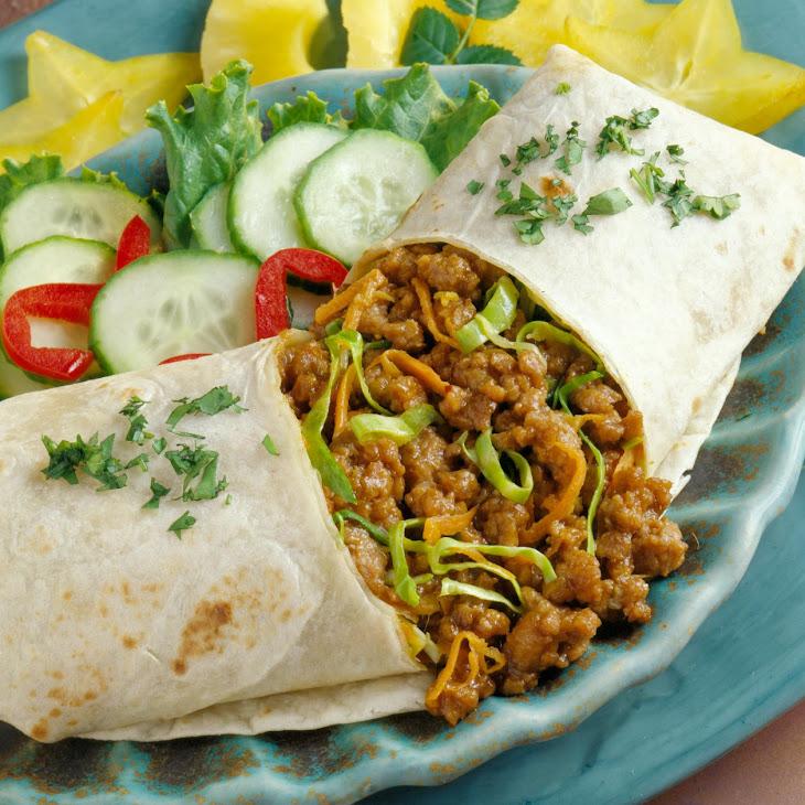 Thai Pork Burritos Recipe