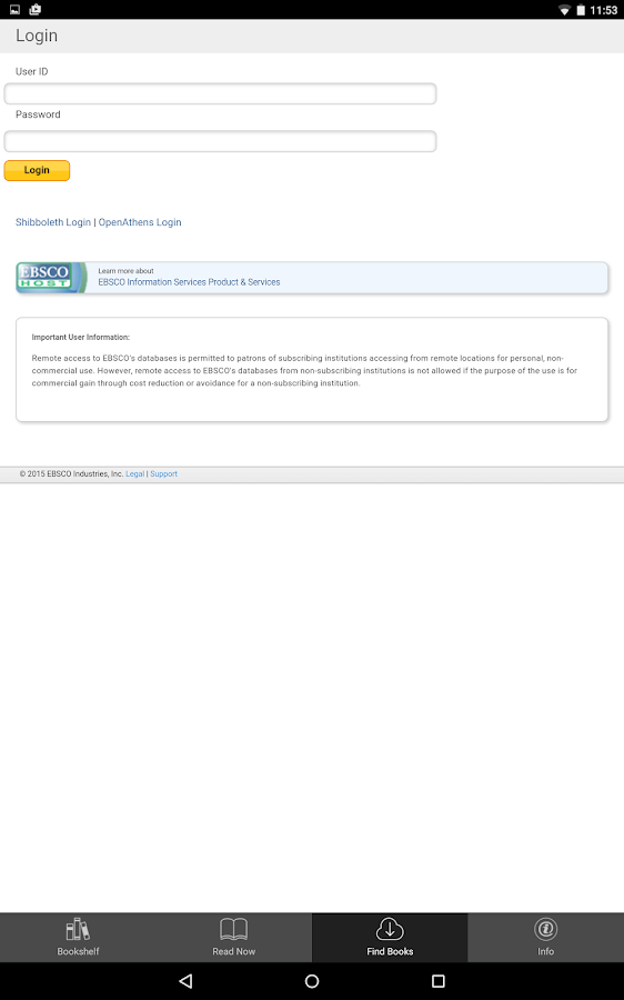 EBSCO eBooks- screenshot