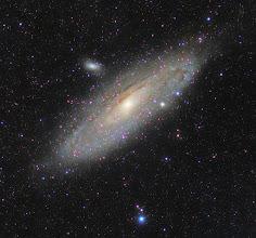 Photo: Galaktyka M31 w powiększeniu  -Canon 600D z obiektywem Orestregor 200mm, -1h30min, klatki po 2 min. -Księżyc po I kwadrze.