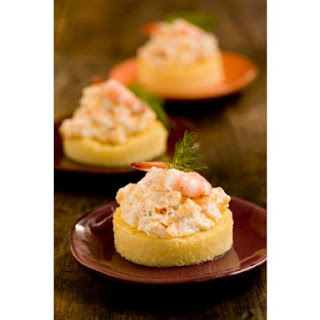 Cheesy Shrimp on Grits Toast.