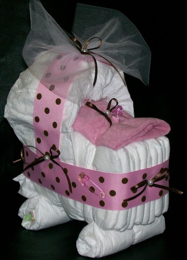 here is a nice spin on the diaper cake