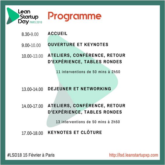 Programme Lean Startup Day Paris 2018