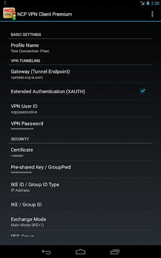 NCP VPN Client Premium  screenshots 4