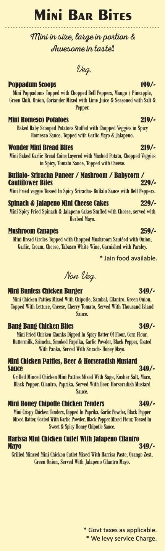 Amuse Resto Bar menu 7