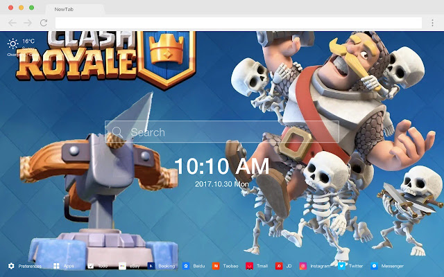 Clash Royale New Tab Page HD Anime Theme