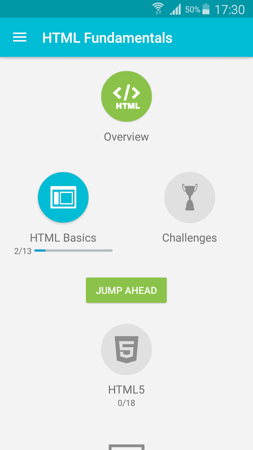 Screenshots of Learn HTML for iPhone