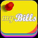 myBills with sync icon