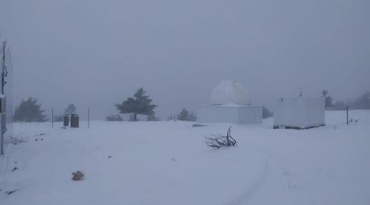 Una intensa nevada deja espectaculares imágenes del paisaje almeriense
