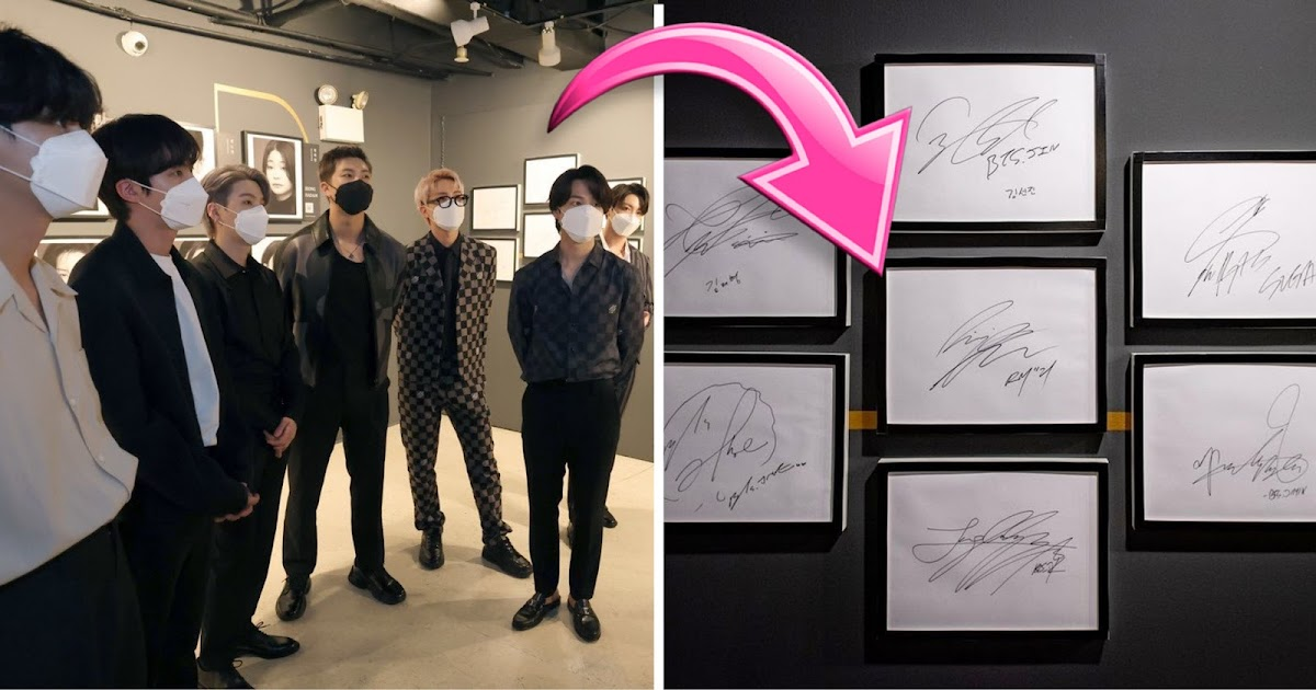 BTS's Autographs Are Now Displayed In Korean Cultural Center New York Gallery