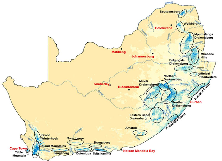 Map of SA's water source areas. Image: WWF
