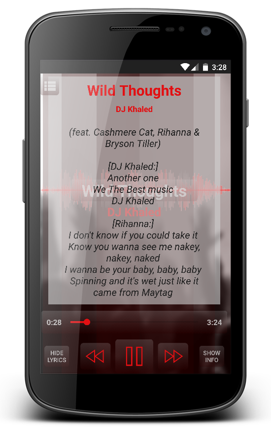Lyric bad wale lyrics rihanna : DJ Khaled - Wild Thoughts ft Rihanna & Bryson T. - Android Apps on ...