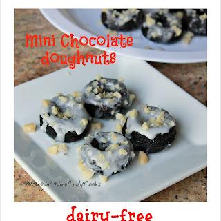 Mini Chocolate Doughnuts (dairy-free)