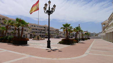 Photo: The new Plaza Espagna behind Nerja's ajuntamento