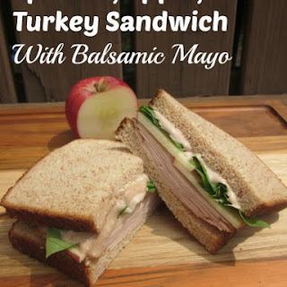 Spinach, Apple, Turkey Sandwich With Balsamic Mayo