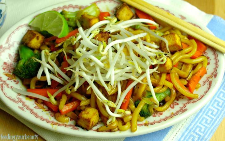 Japanese Pan Noodles With Healthier Homemade Teriyaki Sauce [Vegan]