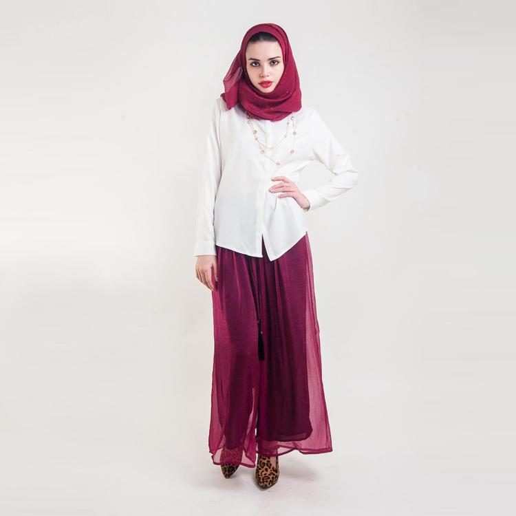 Magenta Palazzo Leg Pants by Hijab Le Modesty