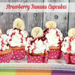 Strawberry Banana Cupcake