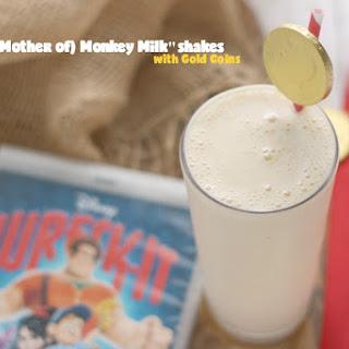 """(Sweet Mother of) Monkey Milk""shakes w/ Gold Coins aka Banana Milkshakes."