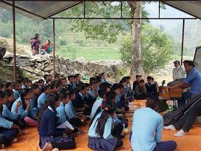 Photo: Mr. Tamang giving singing classes