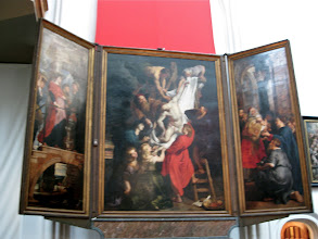 Photo: Rubens' Descent from the Cross. There were lots of HUGE windows, but the light was weird, requiring me to use the manual setting on my camera, which wasn't always the clearest.