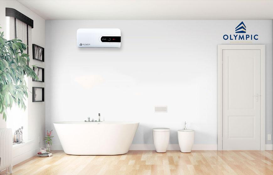 Sử dụng bình nóng lạnh Olympic khi tắm cho trẻ