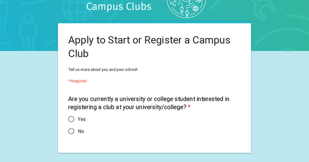 Apply to Start or Register a Campus Club