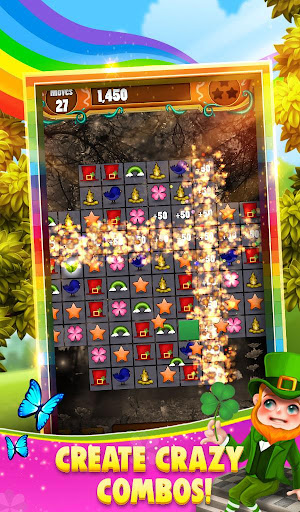Code Triche Match 3 - Rainbow Riches APK MOD screenshots 4