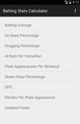 Batting Stats Calculator