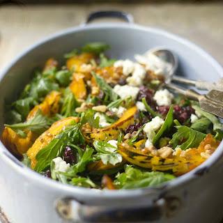 Roasted Acorn Squash, Wheat Berry & Feta Salad Recipe