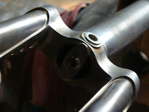 Photo: My sneaky fender mount brazed under the fork crown.