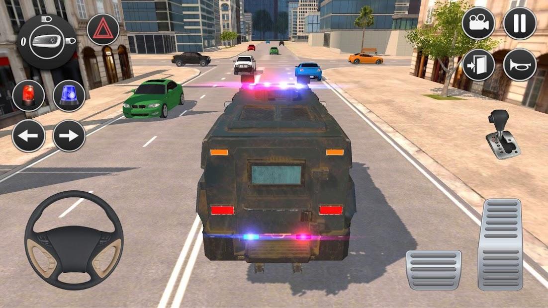 American Police Car Driving