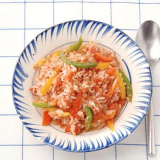 Rijst Met Paprikatomatensaus