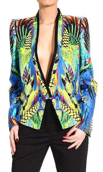 Photo: ROBERTO CAVALLI http://store.giglio.com/en/woman/clothing/blazer/tuxedo-jacket-lush-print.html