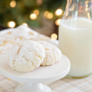 Nut-Free Snowball Cookies Made with Cake Mix.