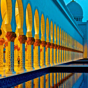 SZM Reflections by Jonathan Williams - Buildings & Architecture Other Exteriors ( reflection, mosque, uae, abu dhabi, architecture, sheikh zayed mosque )